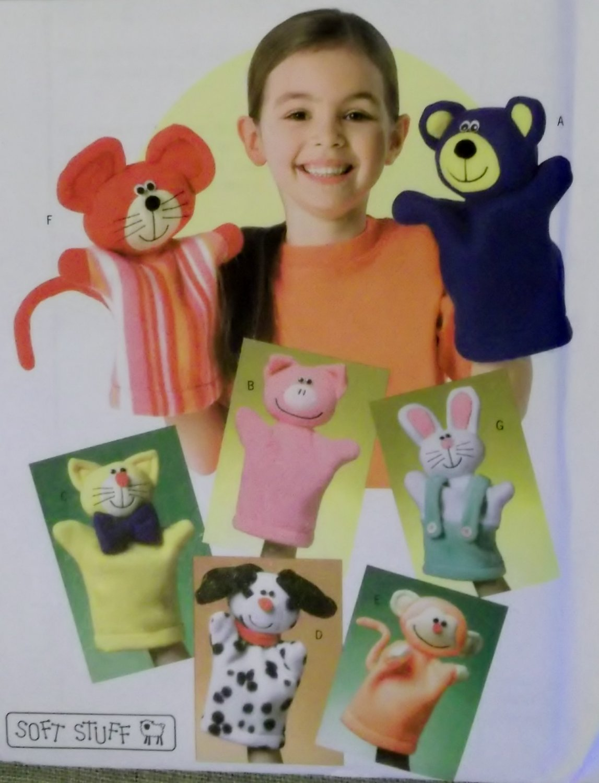 Butterick B 4209, Kids' Hand Puppets Pattern, One Size, UNCUT