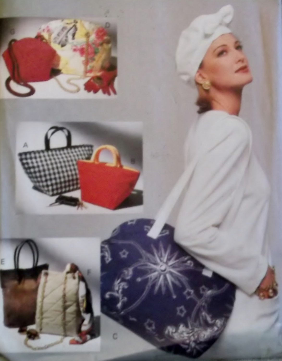 Fashion Bags in 7 styles, Vogue 8584 Sewing Pattern, Uncut