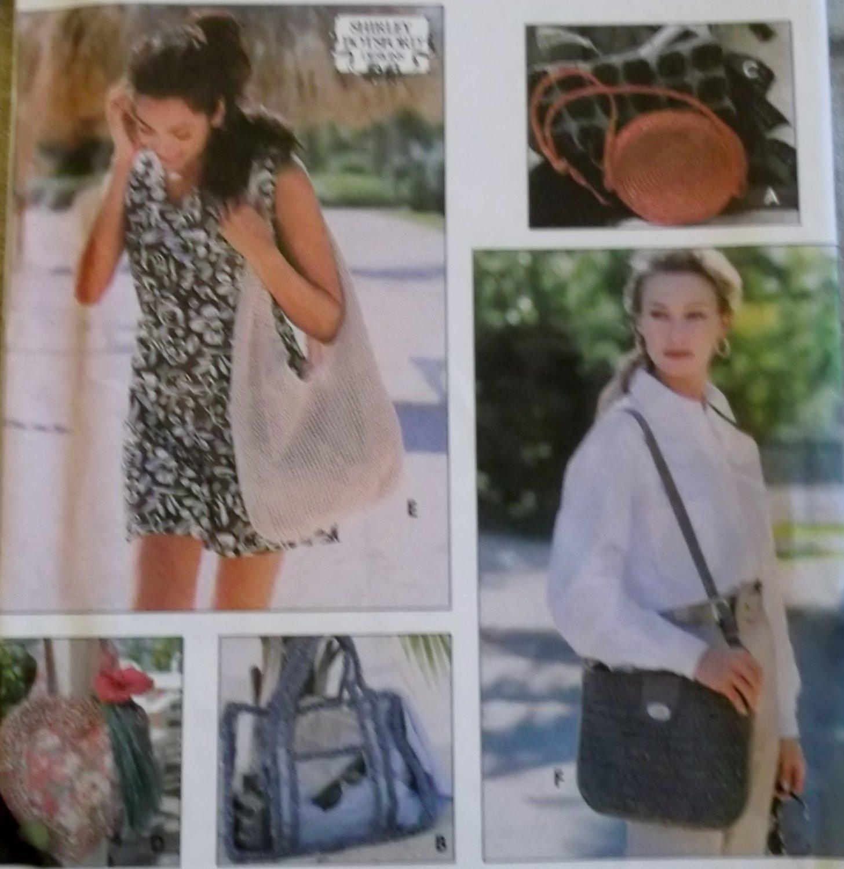 Simplicity 8994  Shirley Botsford, Crocheted Handbags Pattern , Uncut