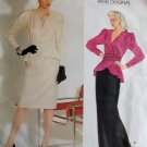 Misses Top & Skirt Vogue 1298 Designer Pierre Balmain Pattern, Size 8, Uncut