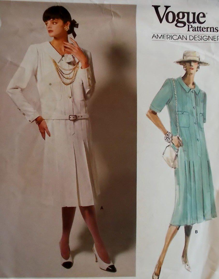Misses Dress Vogue 1688 Designer Albert Nipon Pattern, Size 8, Uncut