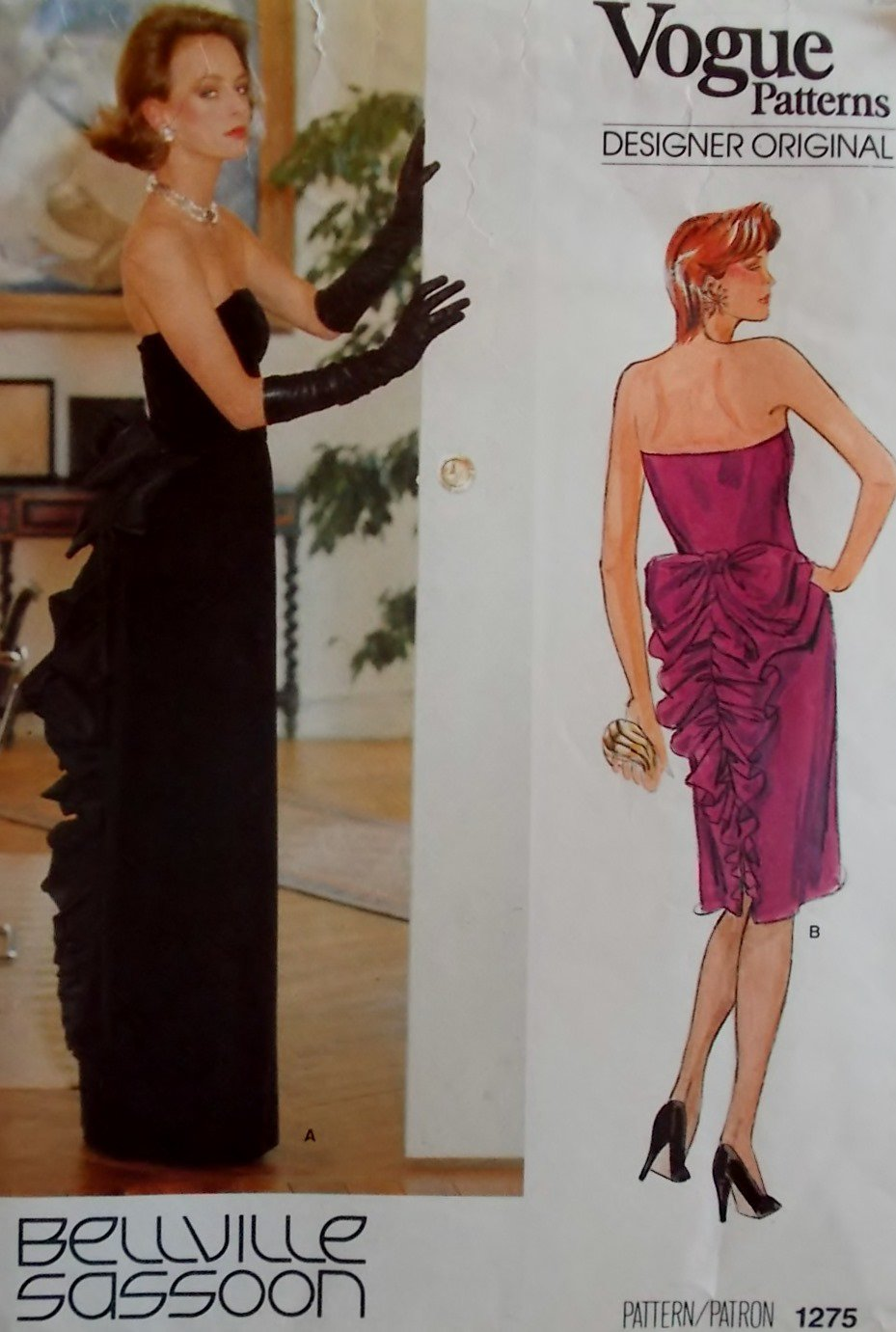 Vintage Sassoon Evening Gown Vogue 1275 Pattern, Size 14, Uncut
