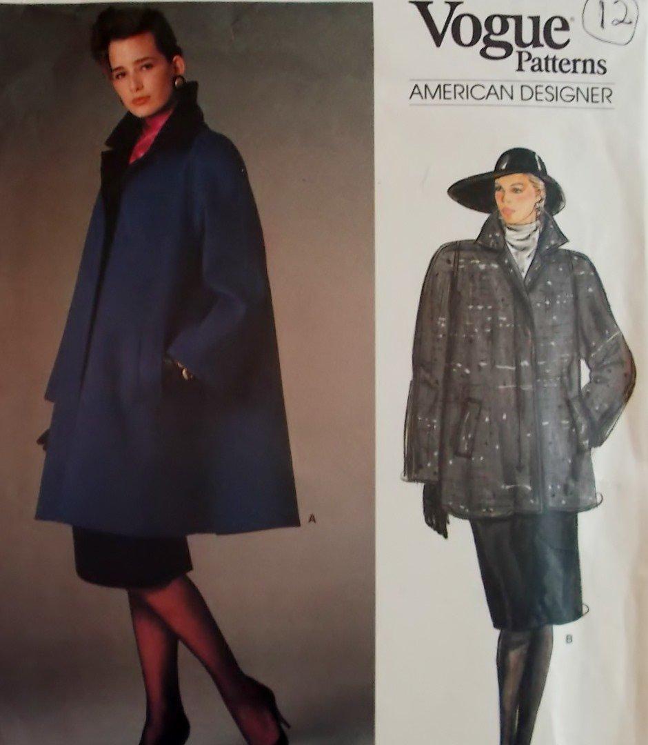 Vogue 1434 Oscar de la Renta Designer Misses' Coat Pattern, Size 12, Bust 34, Uncut
