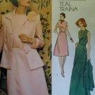 Vintage Teal Traina Jacket & Dress Vogue 1185 Sewing Pattern, Half Size 18 1/2  Bust 40, Uncut FF