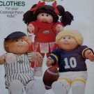 Butterick 6827 Cabbage Patch Kids Sports Doll Clothes Pattern, UNCUT