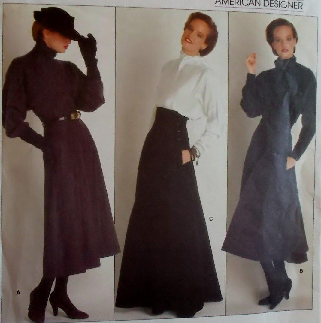 Vogue 1239 Perry Ellis Designer Misses' Skirt Pattern, Size 6, Bust 30 1/2, Uncut