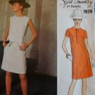 Sybil Connolly Couturier Designer Misses'  One-Piece Dress Vogue 1928 Pattern, Size 14, Bust 36