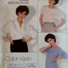Vogue 1128 Calvin Klein Design Misses' Top & Blouse Pattern, Size 12, Bust 34, Uncut