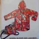 Dakota Station 08062 Kids School Slicker/ Rain Coat & Lunchbox Pattern,  Sz 7 8 10 12, UNCUT