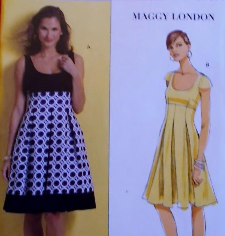 Butterick B 5317 Maggy London Design Misses' Dress Pattern, Plus Sz 16 18 20 22, Uncut