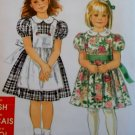 Simplicity 7422 Child's Dress & Pinafore Pattern, Size 3 to 8, Uncut
