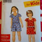 OOP Simplicity 7559 Girls Top and Shorts Pattern, Sz 2 3 4 5 6 6X, Uncut