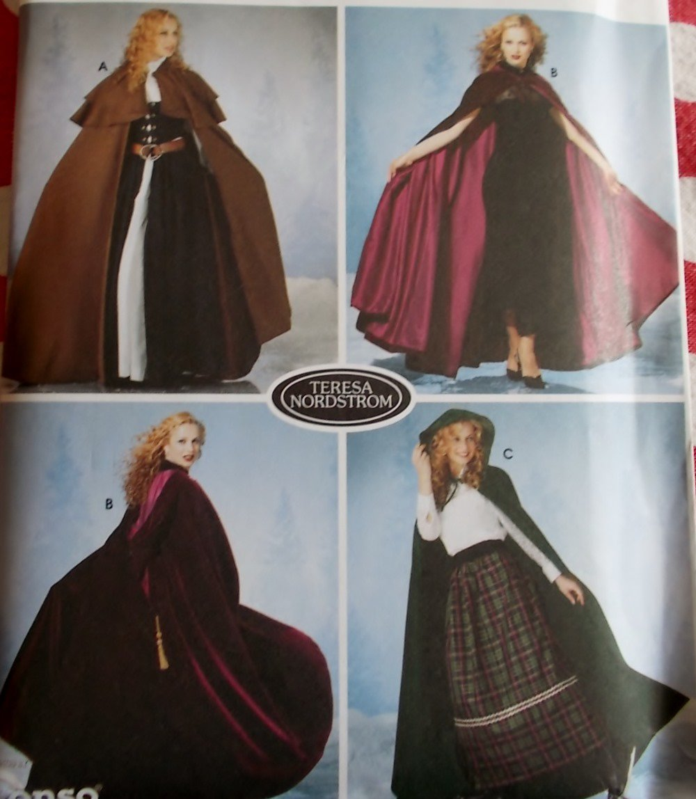 Simplicity 5794 Misses, Hooded Cape Pattern, XS S M L, Uncut