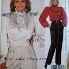 Vintage McCalls 9032  Linda Evans Design Misses Blouse, Tie and Pants Pattern,  Size 12, UNCUT