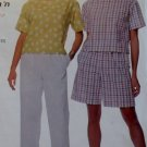Easy McCalls 9329 Misses Top, Pull-on Pants and Shorts Pattern,  Plus Size Lg Xl, UNCUT