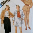 Simplicity 6335 Misses' Pants or Shorts, Skirt, Loose Jacket & Tie Belts Pattern,  Size 14, UNCUT