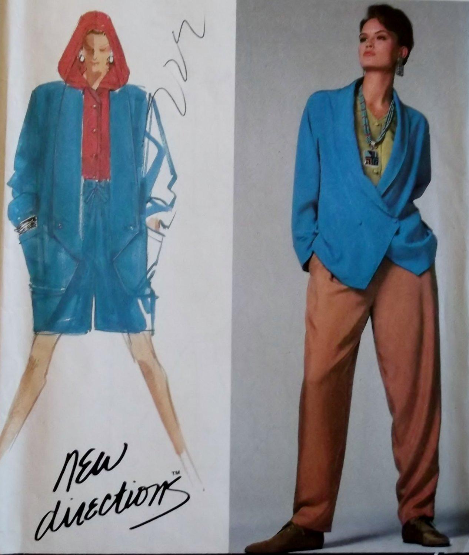 Simplicity 7108 Misses' Pants or Shorts, Top & Jacket  Pattern, Plus Sizes 10, 12, 14, 16, 18 UNCUT