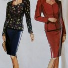OOP Easy Simplicity 9835 Misses' Skirt & Unlined Jacket Pattern, Sz 10 to 20, Uncut