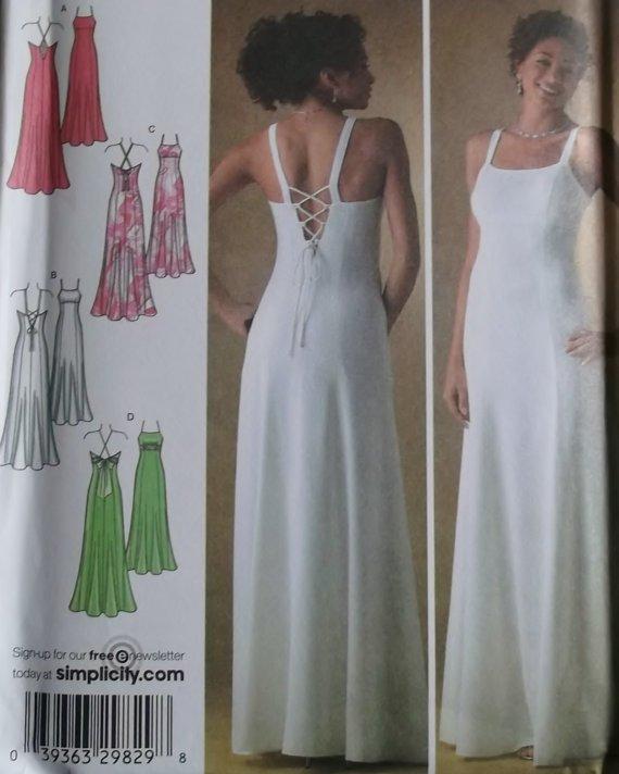 Simplicity 4143 Misses' Evening gown Pattern, Plus Size 12 to 20, Uncut