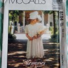 McCalls Memories by Jo Lene 8184 pattern, Childs Dress, Sizes 3, 4, 5, UNCUT