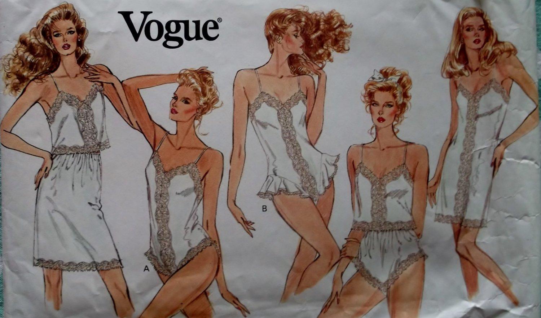 Vogue 2146 Pattern, Misses' Slip, Camisole, Half-Slip, Panties and Teddy,  Sz XS S M, Uncut