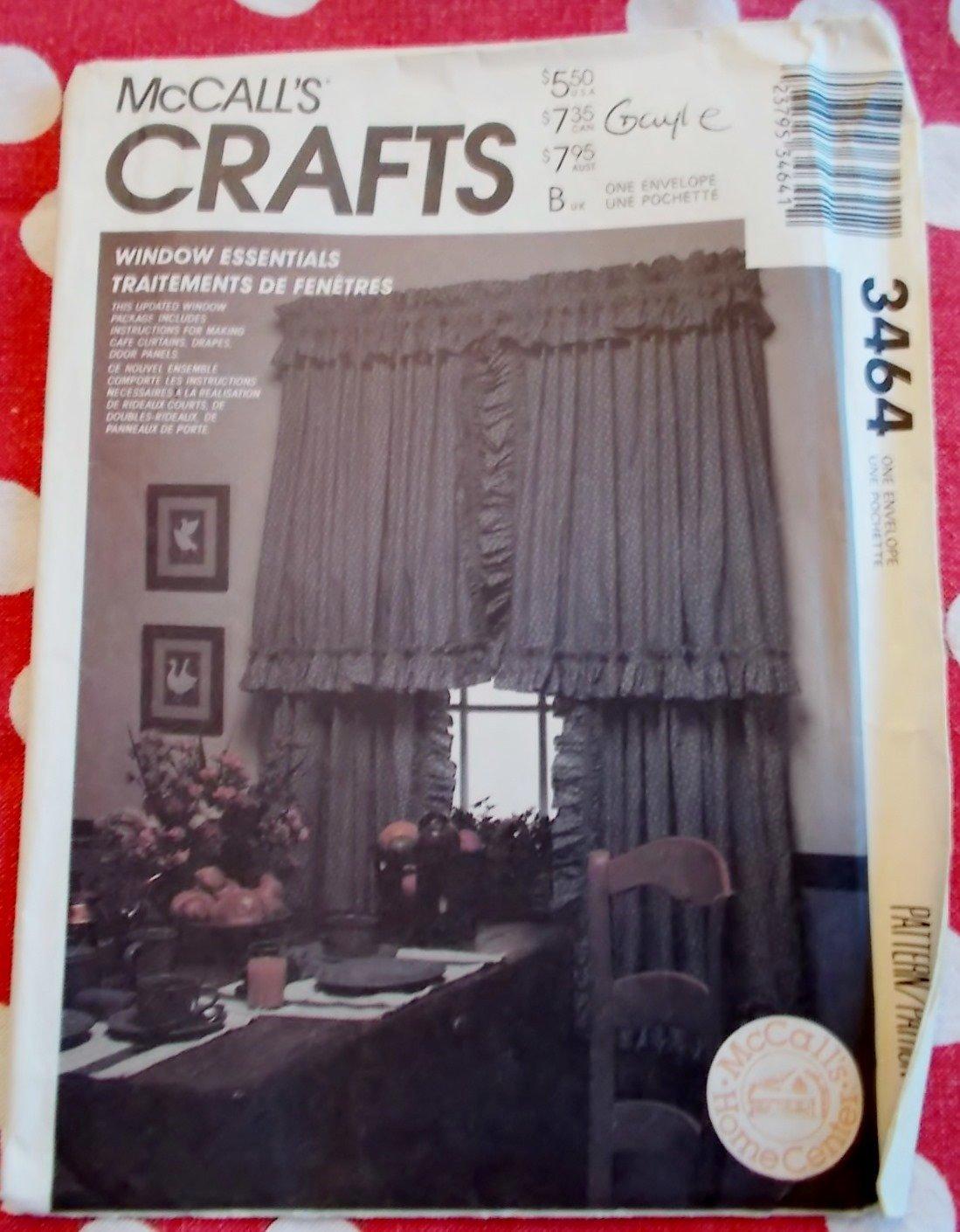 Windows Essentials Curtains & Drapes, McCalls 3464 Pattern,