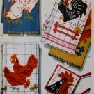 Vintage McCalls 1696 Applique Chickens Transfer Pattern, UNCUT