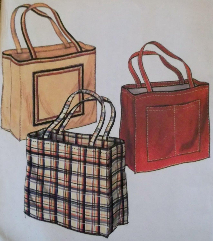 McCalls Sample Tote Bag Pattern, Uncut