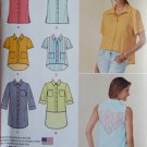 Simplicity 1422 Misses' Button Up Mini-Dress or Shirt with Variations Pattern, Size XS, to XL, UNCUT