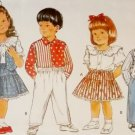 Easy Butterick 3333 Pattern, Childrens Vest Blouse Shirt Skirt & Pants, Sizes 2 3 4, UNCUT