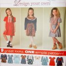 Simplicity 7354 Pattern, Girls Dress and Vest, Sz 5 6 7 8, Uncut
