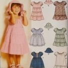 McCalls 5695 Pattern, Toddlers' Dresses in 6 styles and Hat,  Sizes 2, 3, 4, UNCUT