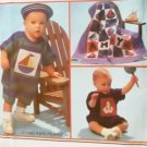 Simplicity 8519, Infants Romper Hat  & Quilt Pattern, Size 6 mo to 18 mo, UNCUT