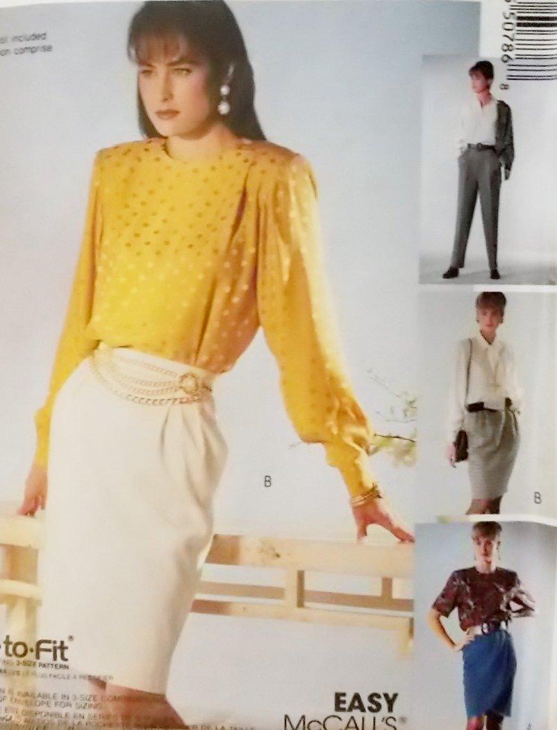 Easy Misses' Skirt & Pants McCalls 5078 Pattern Plus Sz 20 22 24, Uncut