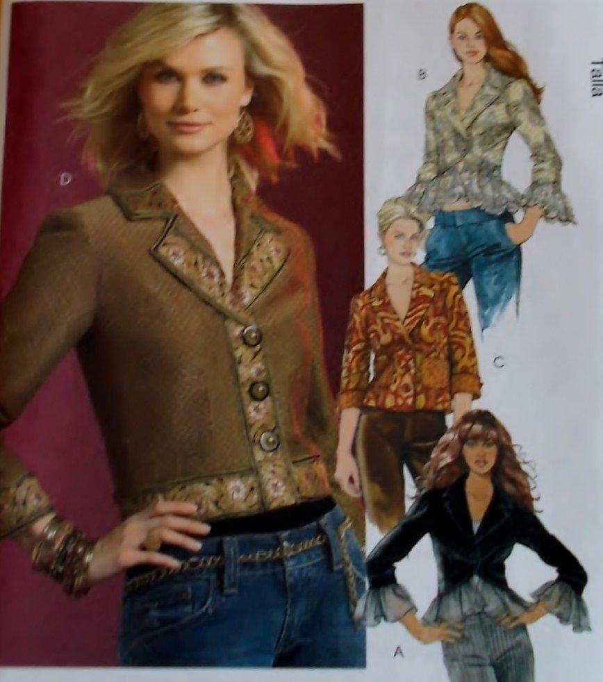 McCalls M 5176  Misses' Lined Jackets Pattern, Size 4 6 8 10 UNCUT