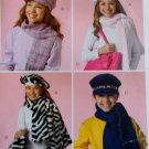 McCalls M4938 Childs Hats, Scarves, Tote Bag & Cell Phone Case Pattern, one size, UNCUT