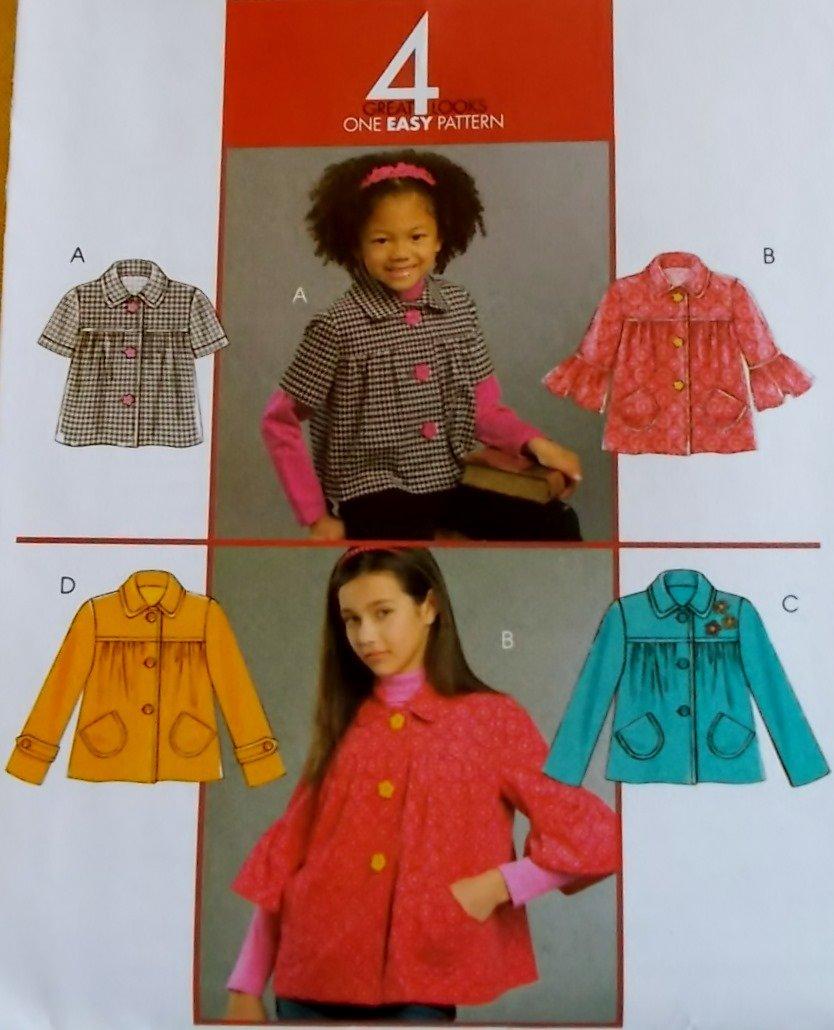 Mccalls  M 5697 Girls' Jackets Pattern, Sizes 7 to 14, UNCUT