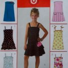 Girls' Dress in two Lengths McCalls M4767 Pattern, Size 12 14 16, Uncut