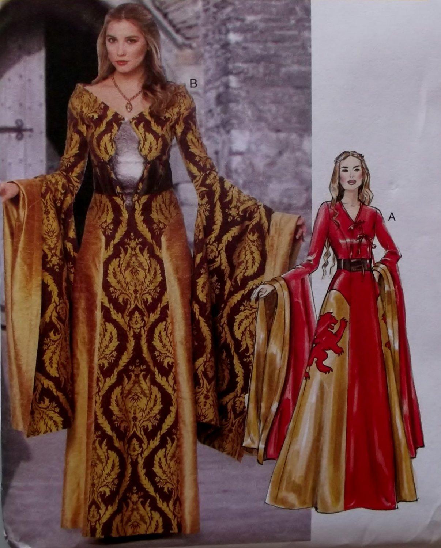 Misses Costume Medieval Renaissance Dresses McCalls M 6940 Pattern, Size 6 To 14, Uncut