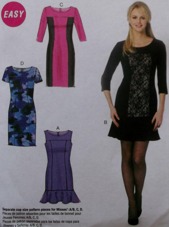 McCalls M6988 Sewing Pattern, Misses' Dress, Size 14 16 18 20 22, UNCUT