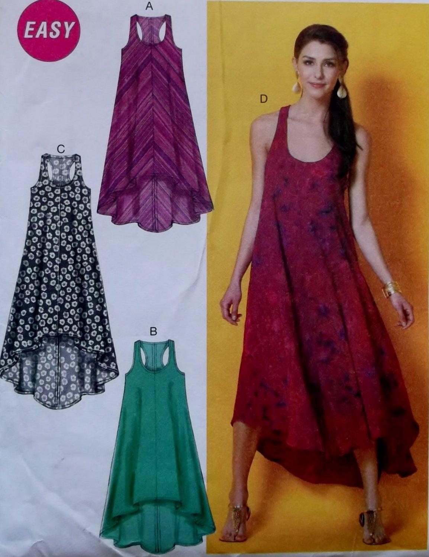 Easy McCalls M6954 Misses Dresses Pattern, Size XSm Sm Med, Uncut