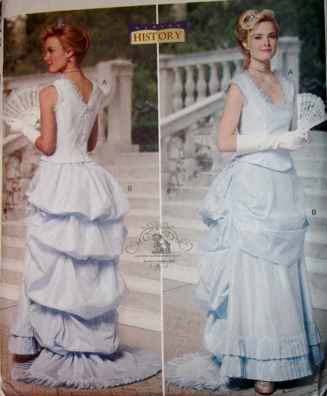 Making History Misses' Top & Skirt Butterick B5696 Pattern, Plus Size 14 to 20, Uncut