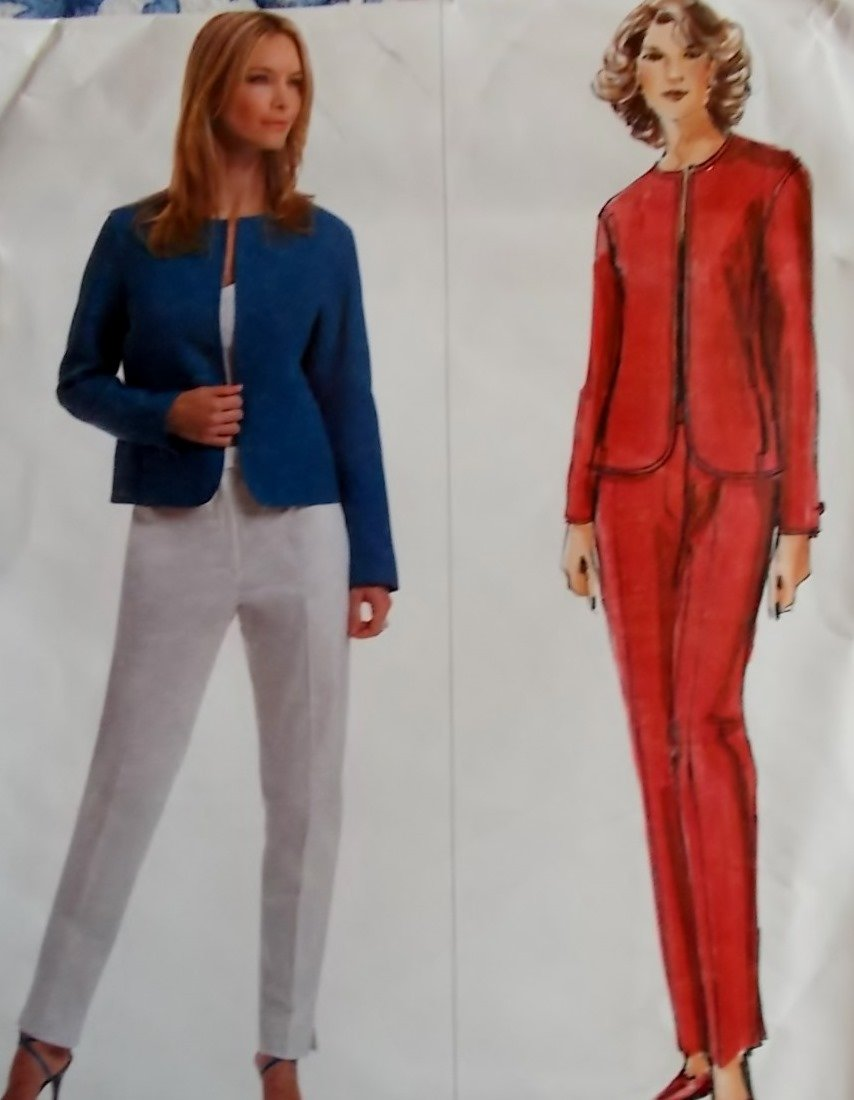 Vogue V2855 Misses Jacket & Pants Sewing Pattern, Size 6 8 10, UNCUT