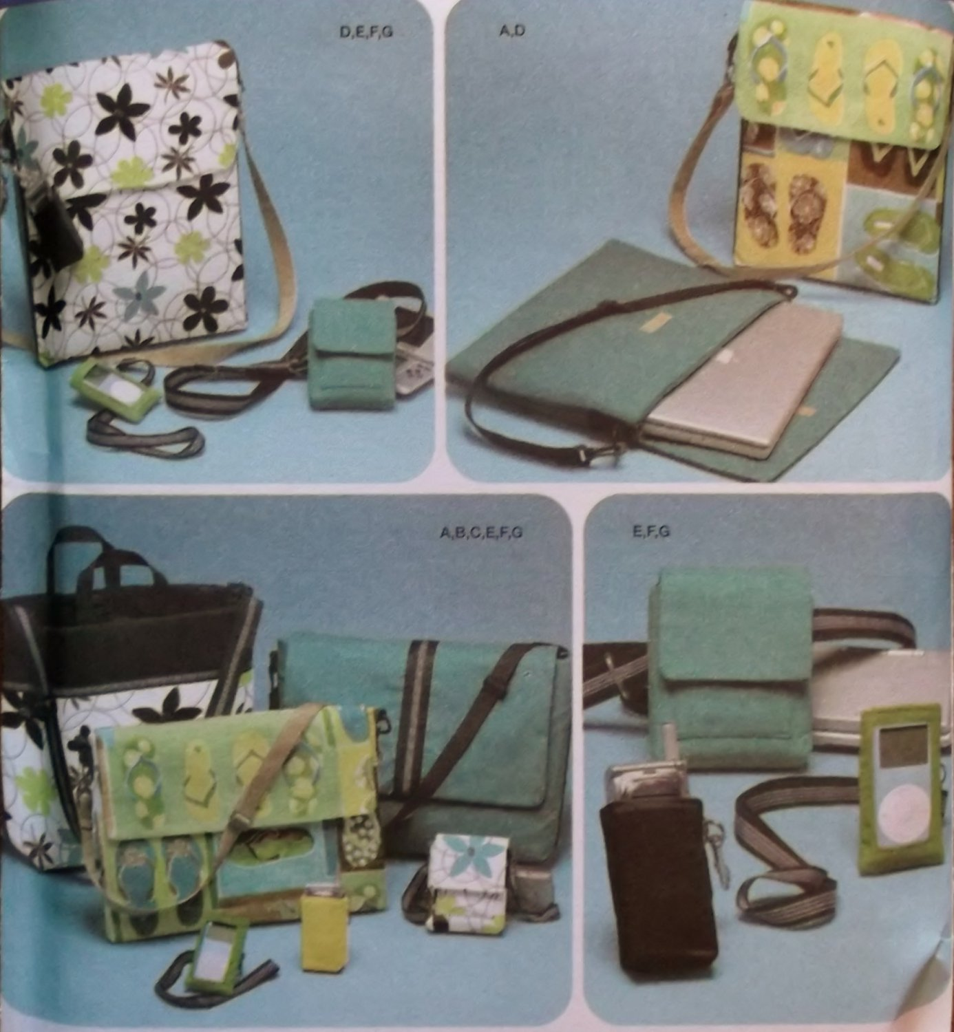 Simplicity 4391 Tech Accessories Bags 7 Styles Pattern, Uncut