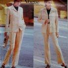 Calvin Klein Design Misses' or Petite Jacket & Pants Vogue 1939 Pattern, Size 8 10 12, UNCUT