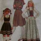 OOP Girls' Jumper And Blouse McCalls 7667 Vintage Pattern, Girls Size 12 Bust 30, UNCUT