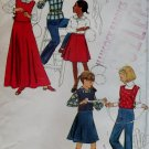 Girls' skirt  tabard, pants blouse Simplicity 8219 Vintage Pattern, Girls Size 12 Bust 30, UNCUT