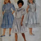 Girls' Dress McCalls 8538 Vintage Pattern, Girls Size 10, UNCUT