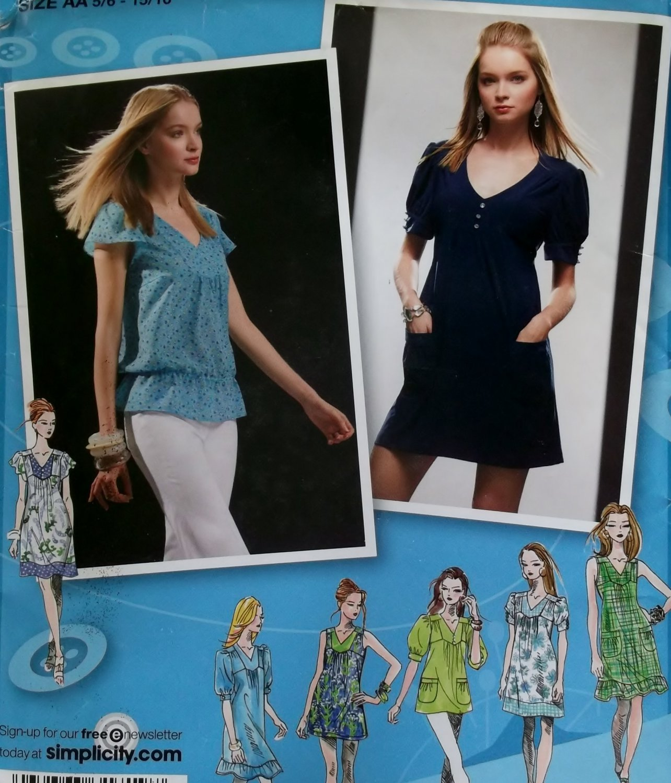 Project Runway Mini Dress & Tunic Simplicity 2942  Pattern Juniors  Size 5/6 to 15/16, Uncut