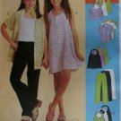 Girls Dress & Top in two lengths Shirt and Pull on Pants McCalls 9346  Pattern, Sz 10, 12, 14, Uncut